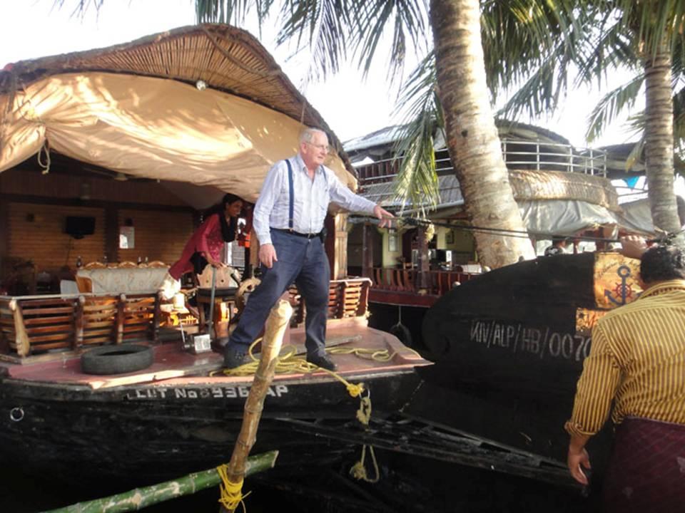 Onboard a Kerala Houseboat